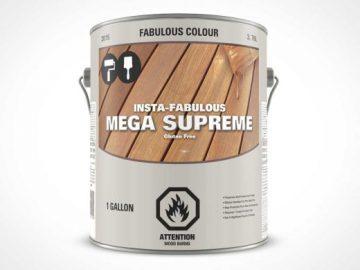 1 Gallon Paint Can PSD Mockup