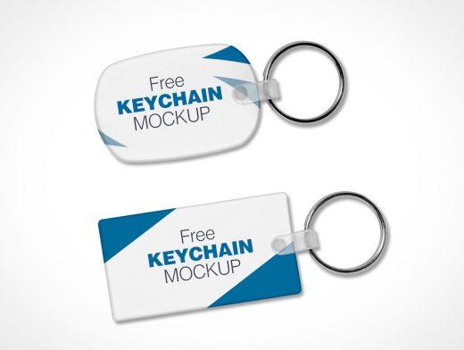 2 Key Ring Keychain PSD Mockups