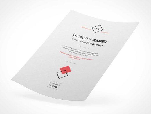 A4 Curved Paper PSD Mockup Vol4