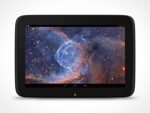 Android Nexus 10 PSD Mockup Landscape Tablet