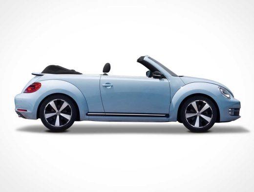 Beetle Car Branding PSD Mockup