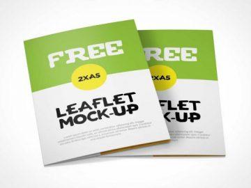 Bi-Fold A5 Leaflet PSD Mockup