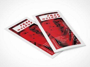 Bi-fold DL Leaflet PSD Mockup