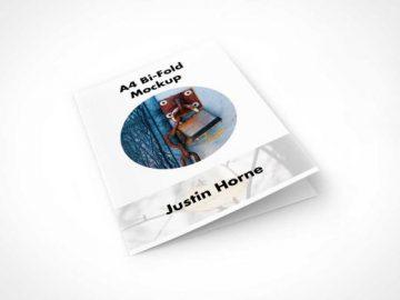 Bi-Fold PSD Mockups in A4 Format