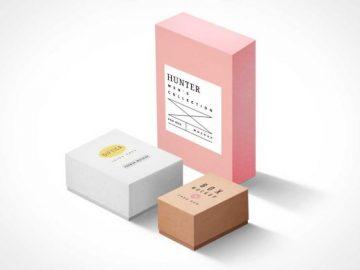 Cardboard Packaging Boxes PSD Mockup