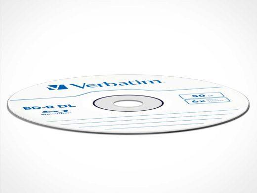 CD DVD Or BluRay Disc PSD Mockup