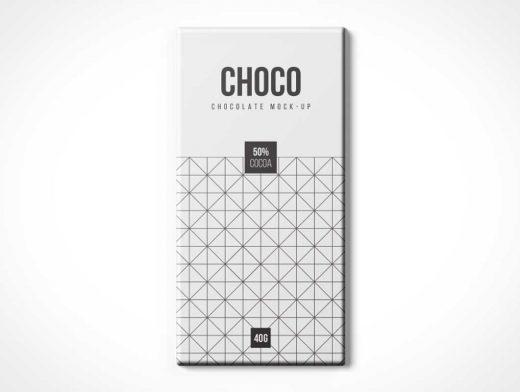 Chocolate Box Package PSD Mockup