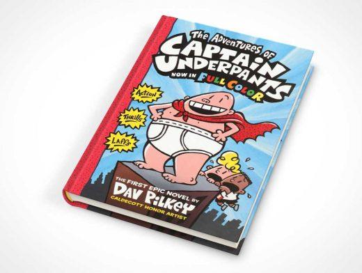 Closed Hardbound Children's Book Face Up PSD Mockup