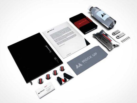 Corporate Branding PSD MockUp Stationery Identity Vol13