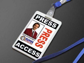 Corporate ID Card / Press Badge Holder & Lanyard PSD Mockup