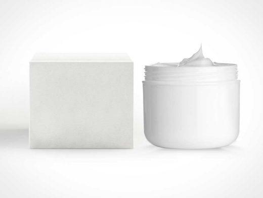 Cosmetic CreamTube Box PSD Mockup