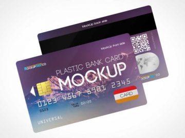 Credit Card Pair Front & Back PSD Mockups