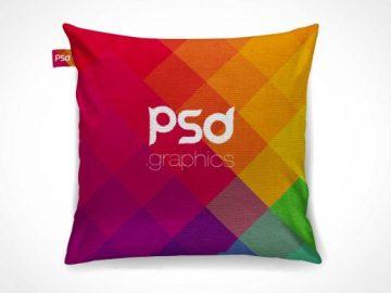 Cushion Throw Pillow PSD Mockup
