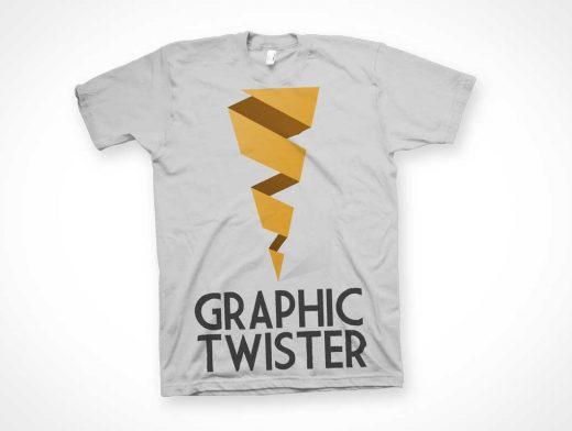 Flat Unfolded T-Shirt PSD MockUp