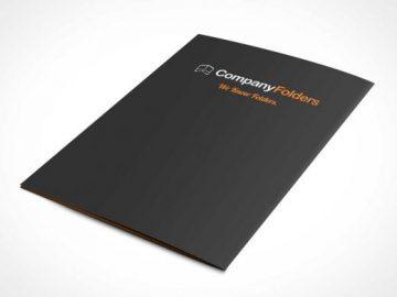 Folder Back Cover PSD Mockup