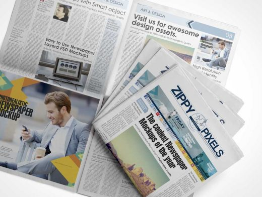 Free Customizable Newspaper & Advertising PSD Mockup