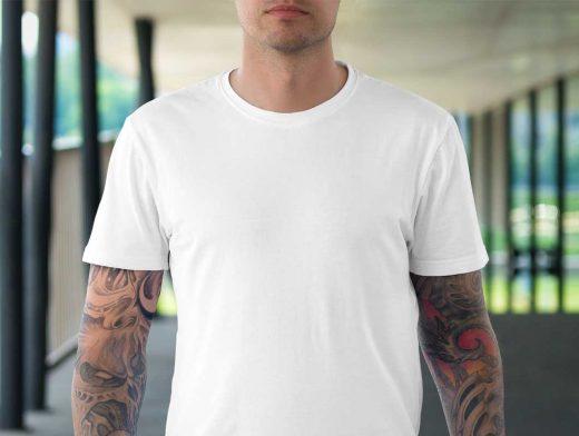 Free T-Shirt PSD Mockup Male and Female Set