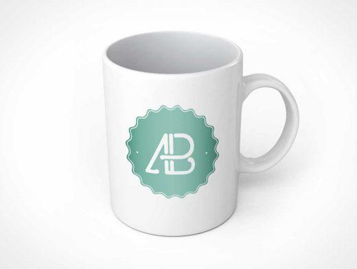 Glazed Ceramic PSD Mockup of Coffee Mug