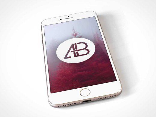 Gold iPhone 7 PSD Mockup