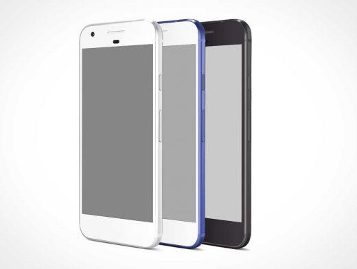 Google Pixel Android PSD Mockup
