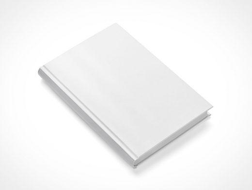 Hardback Book PSD Mockup Isometric View