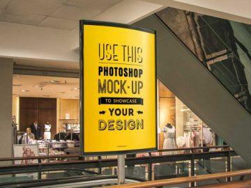 Indoor Poster PSD MockUp Department Store Advertising