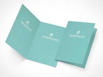 Invitation or RSVP Greeting Card PSD Mockup