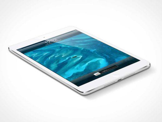 iPad Mini Laying on flat surface PSD Mockup