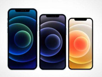 iPhone 12 Pro, Max & Mini PSD Mockup