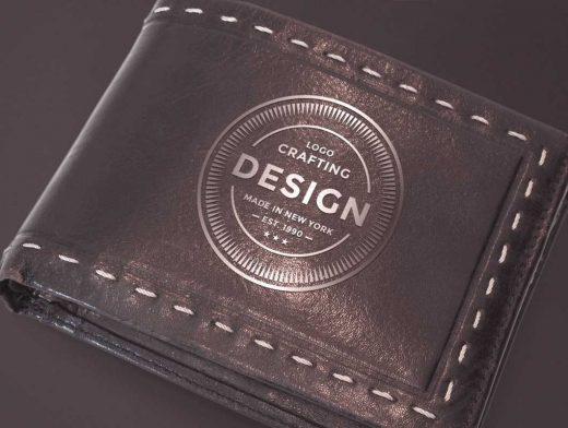 Leather Wallet PSD Mockup