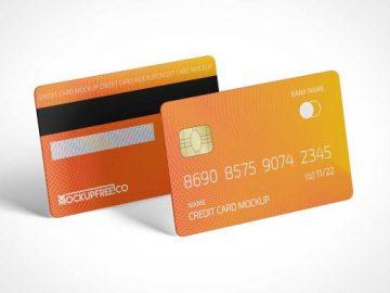 Magnetic Stripe RFID Credit Cards PSD Mockup