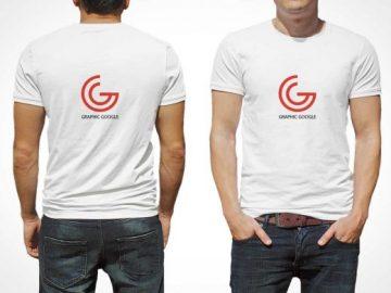 Men's T-Shirt PSD Mockup For Logo Branding