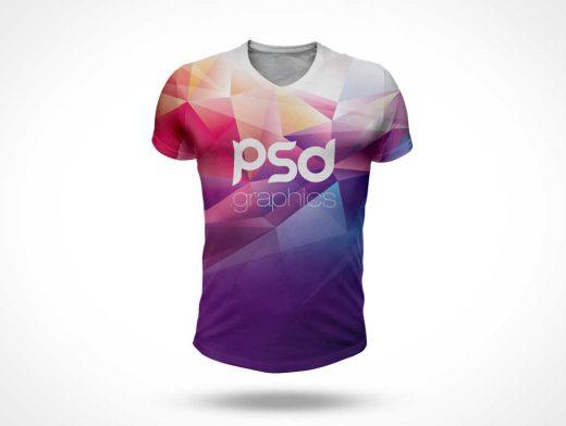 Mens T-Shirt PSD Mockup Front Shot