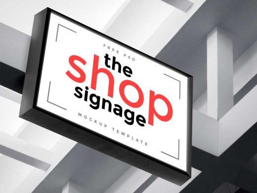 Outdoor Shop Signage PSD Mockup
