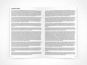 Pamphlet PSD Mockup Open To Centrefold