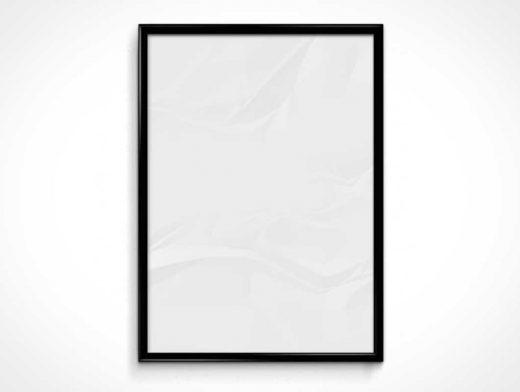 Poster Frame Portrait & Landscape PSD Mockups