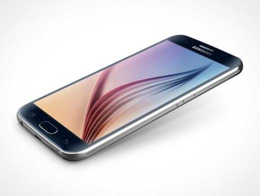 Samsung Galaxy S6 PSD Mockup Lifting Off Surface