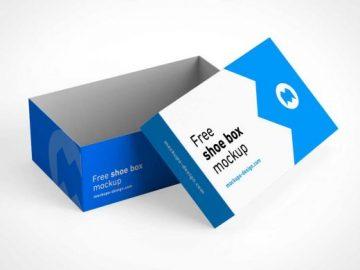Shoebox Storage & Packaging PSD Mockup