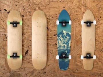 Skateboards PSD Mockup