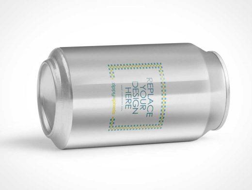 Soft Drink Soda Beverage Can PSD Mockup