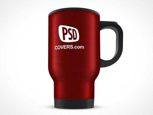 Steel Thermos Mug PSD Mockup