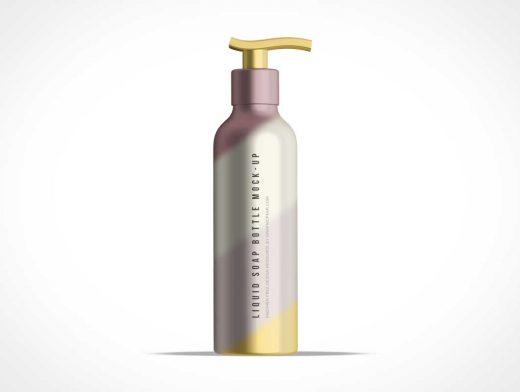 Tall Bottle of Liquid Soap PSD Mockup Dispenser